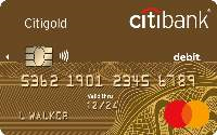 citigold world debit card